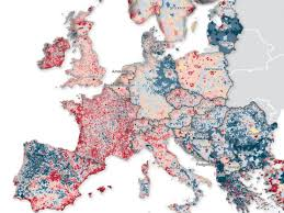 Amsterdam Map Europe by Population Change Map Of Europe Design U0026 Geography