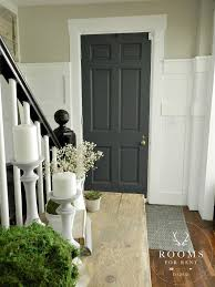 painted front door color graphite by annie sloan wall color