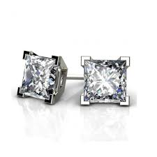 diamond stud earrings melbourne princess diamond stud earrings from 0 20 0 50 carats