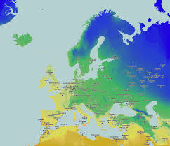 Eu Map Map Of The Surface Of Europe Covered By Snow After Polar Cold Wave