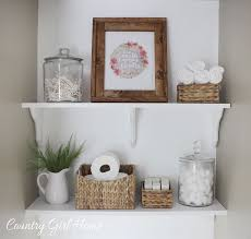 Shelving Bathroom by Country Home Bathroom Shelves
