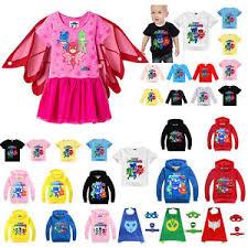 pj masks figures costume kids dress hoodie sweater shirt