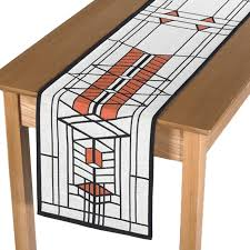 robie house table runner shop flw
