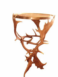 Antler Table L Circa 1900 Brass Top Black Forest Antlers Table Sold Au Fil De L