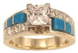 turquoise and wedding ring danny s jewelry of arizona turquoise gold wedding