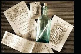 wedding invitations in a bottle invitation in a bottle plus stunning crafted message in a