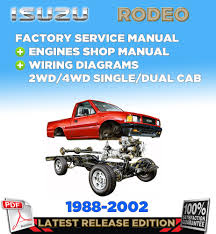 isuzu holden rodeo tf 140 1988 2002 factory servise repair manual