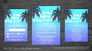 palm tree wedding invitations wedding invitations vintage rustic wedding invitations