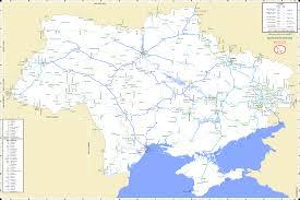Railroad Map Ukraine Moldova And Crimea Railroad Map