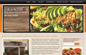 web design portfolio sanchos mexican restaurant website design
