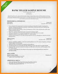 sample resume for bank teller resume samples and resume help