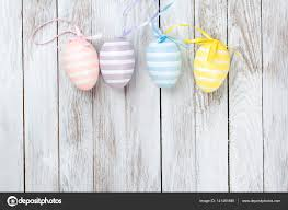 pastel easter eggs pastel colored easter eggs rustic wooden background stock