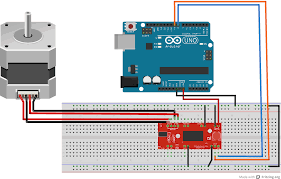 arduino and easydriver stepper motor driver codeterrific diagram