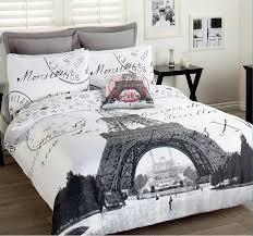 paris eiffel tower comforter set 3pcs double bed paris