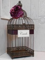 birdcages for wedding birdcage wedding card holder rustic birdcage wedding
