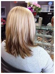 shoulder length hair with layers at bottom i like this but maybe the bottom layer be a crazy color