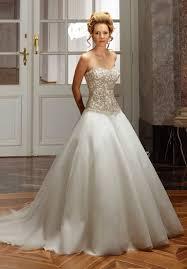 brautkleid mit corsage romantisch royales brautkleid mit corsage in elfenbein und silber