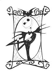 jack skellington coloring pages nightmare before christmas