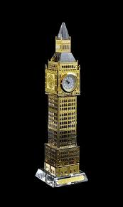 Crystal Souvenirs Light Up Crystal Big Ben With Real Clock London Souvenir Wholesale