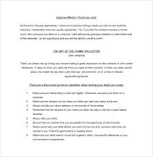 thank you letter to mentor u2013 9 free word excel pdf format