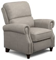 prolounger push back recliner chair dove gray linen traditional