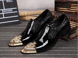 italien design schuhe formal dress shoes buckle leather snake skin italian