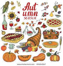 autumn harvest gardenfarm food elementscompositionhand drawing