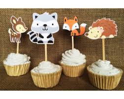 woodland themed baby shower diy printable cupcake toppers woodland creatures party