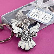 keychain favors 20 angel design keychain baptism communion christening favors