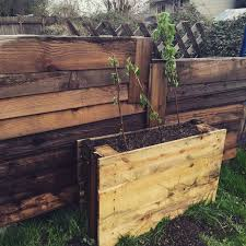 Raised Garden Beds From Pallets - upright pallet raised beds hometalk