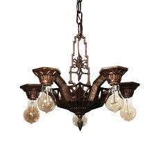 art deco chandelier by lapco antique lighting preservation