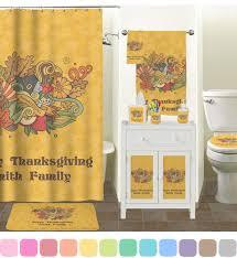 Thanksgiving Bathroom Decor Happy Thanksgiving Bathroom Accessories Set Personalized
