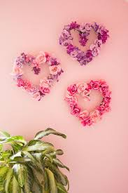 Ideas For Homemade Valentine Decorations by Valentine U0027s Day Decor Diy Floral Hearts Heart Wreath Wreaths