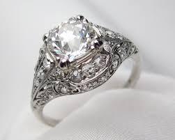 filigree engagement rings palladium filigree diamond ring deco diamond engagement ring