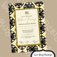 Silver Jubilee Wedding Anniversary Invitation Cards 50th Anniversary Party Invitations U2013 Gangcraft Net