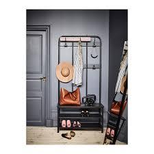 pinnig coat rack with shoe storage bench ikea