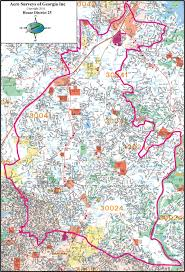 Atlanta Georgia Map Atlanta Georgia Wall Map Samples Aero Surveys Of Georgia