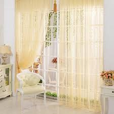 Multi Colored Curtains Drapes Us Fashion Floral Voile Door Window Curtain Home Room Drape Panel