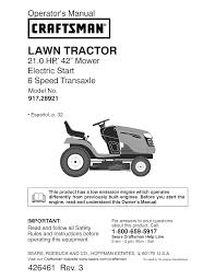 craftsman lawn mower yt 3000 user guide manualsonline com