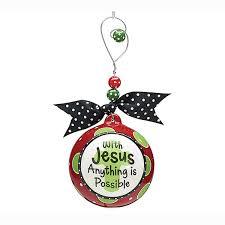 with jesus ornament