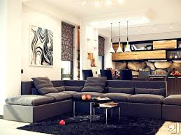 apartments personable black leather couch living room ideas