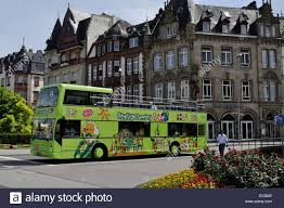 city sightseeing bus in trier germany luxembourg registration sl