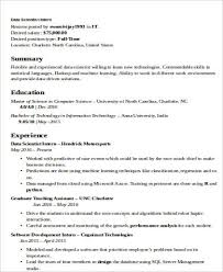 data scientist resume data scientist resume sle exle 62 in easy with