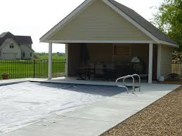 pool house garage completed inground swimming pools custom inground swimming pool