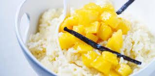 cuisine au lait de coco riz au lait de coco à la mangue facile et pas cher recette sur