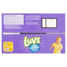luvs super absorbent leakguards diapers size 5 88 diapers