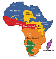 Physical Features Map Of Africa by Subsaharan Africa