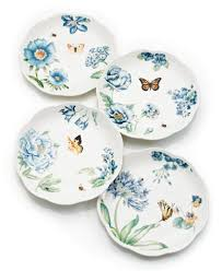 lenox dinnerware set of 4 butterfly meadow blue assorted dessert