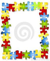 autism puzzle piece border clip art clipart