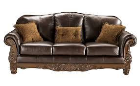 Living Rooms With Dark Brown Leather Furniture Living Room Styling Up Features Elegant Brown Leather Couch